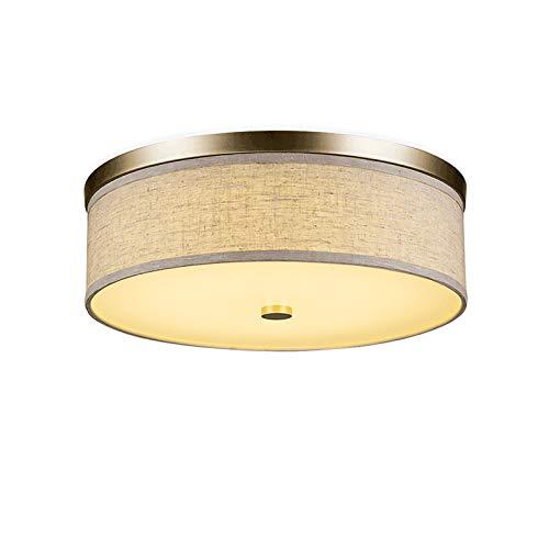 E27 Plafón de tela, artístico, lámpara de techo, estilo retro, diámetro de...