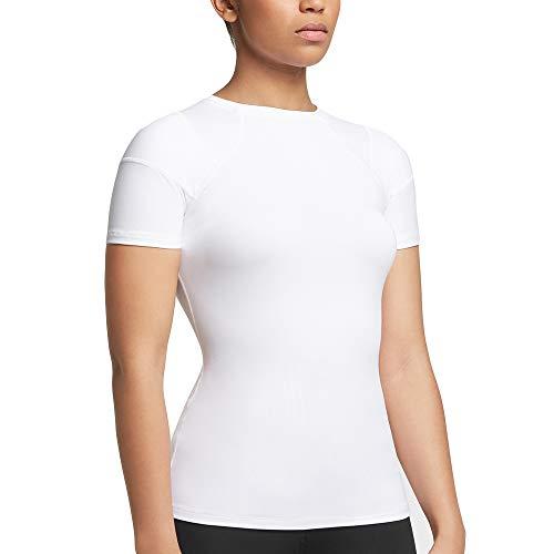 Tommie Copper - Women's Pro-Grade Short Sleeve Shoulder Support Shirt - White - 2X Large