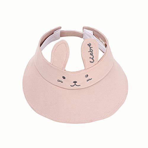 Sombrero para niños Verano Nuevo Conejito súper Lindo versión Coreana de algodón Puro bebé Sombrero de Copa vacío Protector Solar Sombrero para el Sol para niños