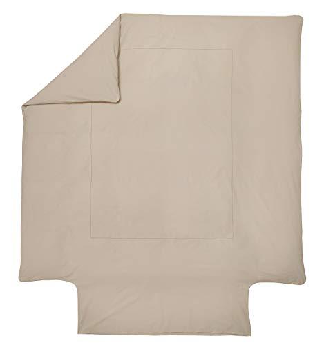 Blanc des Vosges Housse de Couette Marquise Chanvre 260 x 240 cm - Percale 100% coton