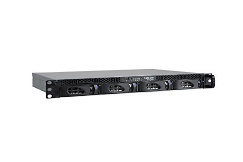 Netgear ReadyNAS Serie 2304 Network Attached Storage, 4 Slot senza Dischi, Capacità 40 TB, 2 Porte Gigabit con Loadbalancing/Failover, Modello Stack, Nero