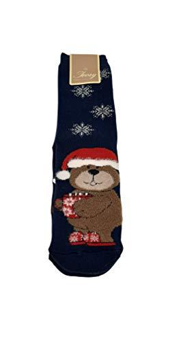 Ivory Rutschfeste Socken für Kinder, Weihnachten, Mehrfarbig 110-116