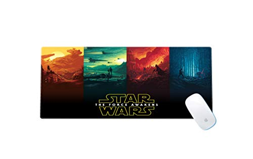 Star Wars Large Gaming Mouse Pad Waterproof Non-Slip Keyboard Pad with Rubber Base Great for Laptop Computer 11.8x23.6x0.12 Inches