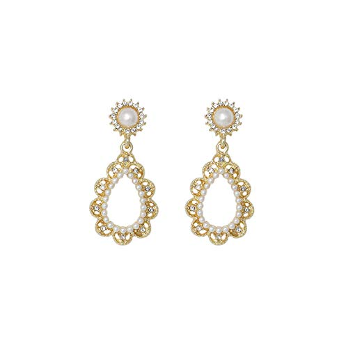 chenhe Pendientes Mujer Plata, S925 Necesita SOBREQUE Exquisito DE Perla DE Perla DE Diamante Diamante Mujeres, Nuevas Joyas de Temperatura
