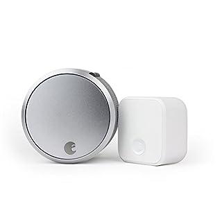 August Smart Lock Pro + Connect Wi-Fi Bridge, 3rd gen Technology - Silver, Works with Alexa, HomeKit & Zwave. (B0752V8D8D) | Amazon price tracker / tracking, Amazon price history charts, Amazon price watches, Amazon price drop alerts