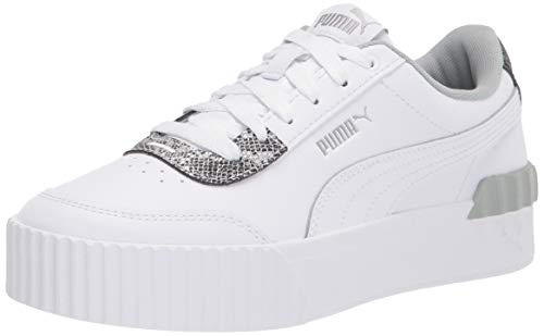 PUMA Women's Carina Lift Sneaker, White White, 10.5