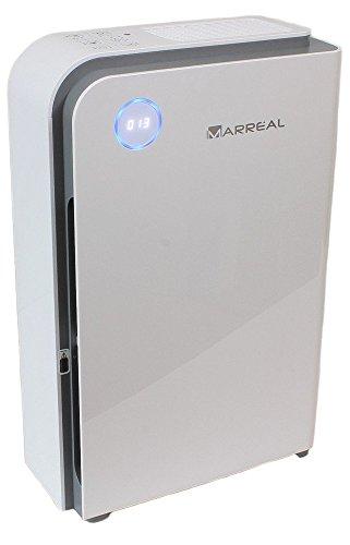 Marreal AP3001B HEPA Luftreiniger bis 60m², ultraleise, mit Feinstaubsensor, Partikelanzeige, Nachtmodus und 6 Stufen Reinigung, Weiß