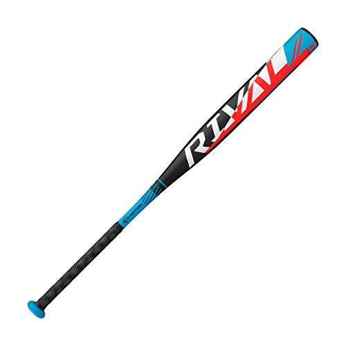 Easton Rival Slowpitch Softball Bat | 34 inch / 27 oz | 2020 | 1 Piece Aluminum | Power Loaded | ALX50 Military Grade Aluminum Alloy | 12 inch Barrel | Certification: Approved for All Fields