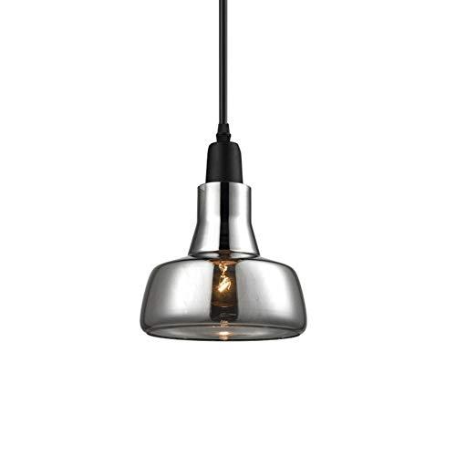 Luminaire Suspendu Verre Clair Luminaire Suspendu Industriel E27 Shade LED (Ampoule Non Incluse)