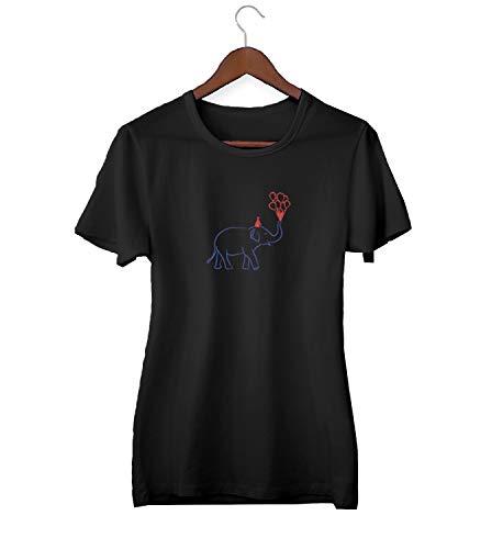 Olifant met ballonnen vliegen up_KK020941 shirt T-shirt T-shirt voor mannen cadeau voor hem cadeau verjaardag Kerstmis