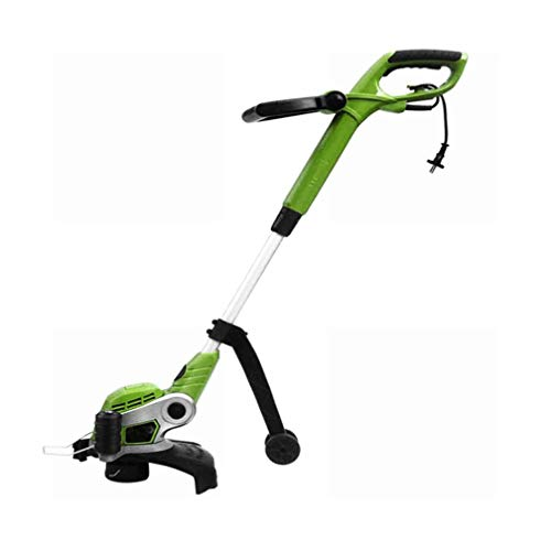 GOFEY° 700W Power + Wheel Plug-In Grass Trimmer Household Small Electric Lawn Mower Grass Machine Cutter for Multiple Angles and Multiple Occasions Suitable for Trimming, Flower Beds, Stone Steps
