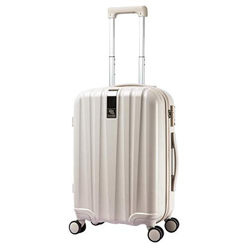 Hanke Suitcase Trolley 54 x 34 x 22 Travel Suitcase with TSA Lock, YKK Zip, 360° Quiet Wheels 20 Inches White