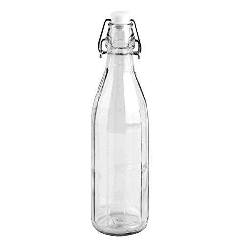 Set 6 pezzi Bottiglia vintage Cerve Milly 500cc ( mezzo litro ) elegante con tappo meccanico ermetico per acqua bevande preparazione e conserva cocktail