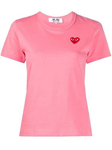 Comme des Garçons P1T271PINK dames-t-shirt, roze, voor lente en zomer