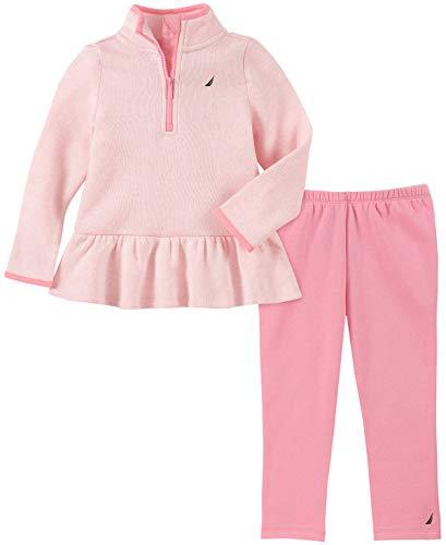 Nautica - Conjunto de 2 Pantalones de suéter para bebé, Rosado Claro, 12 Meses