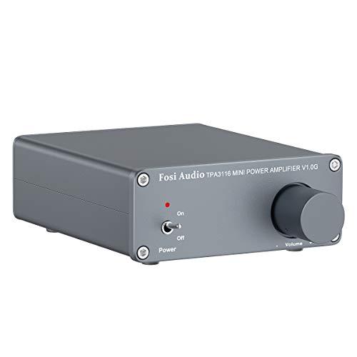 Stereo Verstärker Lautsprecher 50 W x 2, 2 Kanal Audioverstärker Mini-HiFi-Klasse D Integrierter TPA3116- mit 19 V, 4,74 A Netzteil - Fosi Audio (V1.0G)