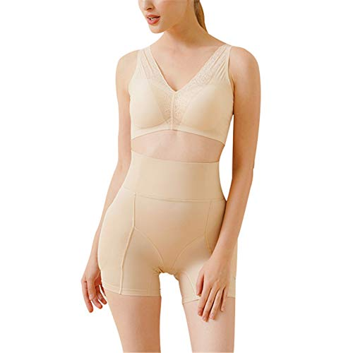 Shorts fajas para mujer Caderas de cintura almohada acolchada a acolchada de una pieza y caderas hermosas hermosas del vientre transpirable Panty moldeador ( Color : Flesh-colored , Size : XXX-Large )