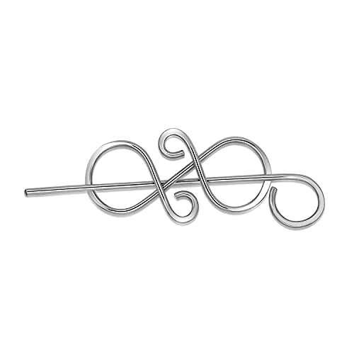 Celtic Sweater Pin Hair Clip Pins Silver Hair Bow Hair Pins Leather Hair Barrette with Stick Women Christmas Gifts
