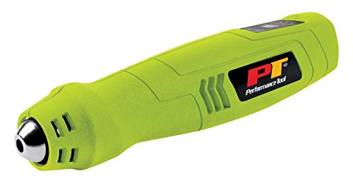 Performance Tool W2082 Compact Rechargeable Cordless Heat Gun, 600 Degree Max Output, For Epoxy Resin, Vinyl Wrap, Shrink Tubing, Wire Connectors, Crafts, Phone Repair