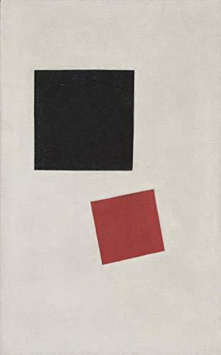 Cuadro De Bricolaje Malevich Cuadrado Negro Y Cuadrado Rojo Por Números Para Adultos Y Manualidades De Arte Para Niños Para Decoración De Paredes Del Hogar - 16 X 20 Pulgadas (Sin Marco)
