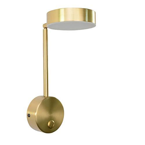 Lámpara de pared Luces de pared modernas de noche para dormitorio LED Lámpara de pared Sala de estar con interruptor de pared Sconence Inicio Iluminación Baño Apliques de Pared