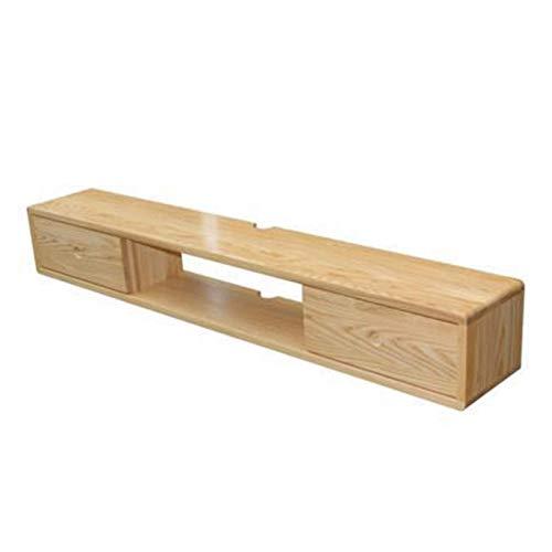 N/Z Haushaltsgeräte TV-Schrank Massivholz-TV-Schrank Wandmontage Nordic Minimalist Schlafzimmer Wohnzimmer Wandmontage Set-Top-Box-Rack TV-Schrank TV-Halterungen (Farbe: Beige Größe: 100 cm)