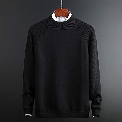 Sweater Men Knitwear Autumn Winter Slim Warm Sweaters O-Neck Pullover Men Top L Bl922Black