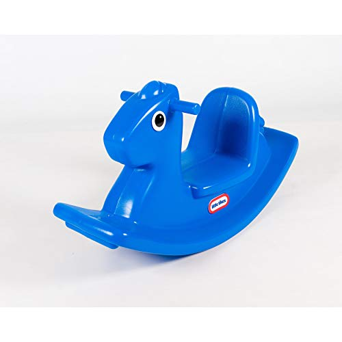Little Tikes Rocking Horse. Toddler Rocking Toy With Easy Grip Handles & Stable Saddle. Durable, Stable, Kid-Safe Toy For Indoor or Outdoor. Blue Rocking Horse For Kids Aged 18 Months +