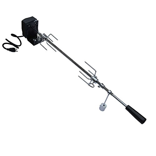 """onlyfire 6019 Universal Rotisserie Kit for Most 2- and 3- Burner Grills(Excluding Weber Gas Grill, Char-Griller 5050 Duo), Hexagon Spit Rod 32 1/2"""", Electric Motor 110V"""
