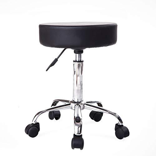 LRWHome Creativa Sencilla Moda Negro Elevador Taburete Taburete de Bar Silla Silla giratoria Silla Multiusos