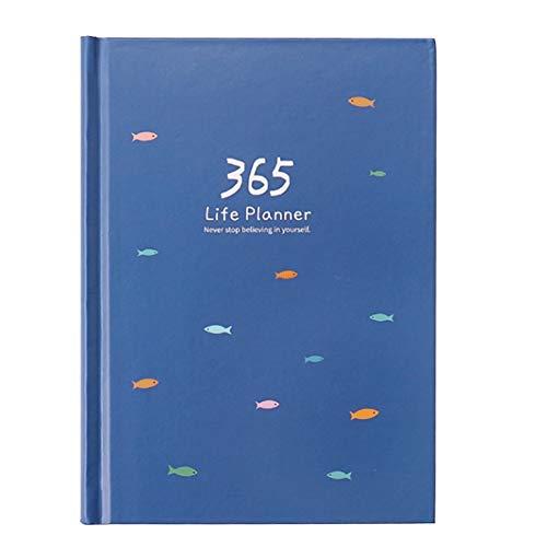 Cuaderno Diario Plan Diario Gestión del Tiempo Horario del día Aprendizaje Bloc de Notas del Estudiante Planificador Diario Planificador del horario Organizador Libro Notebook (Color : Blue)