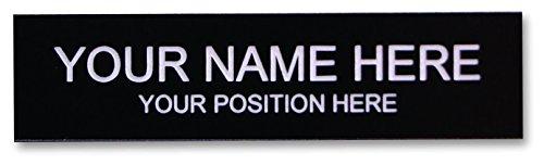 Office Desk Name Plate or Door Sign - Laser Engraved Signage Material - Black