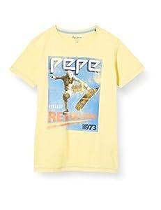 Pepe Jeans Basile Camiseta, Amarillo (Solar 065), 4-5 años (Talla del Fabricante: 4) para Niños