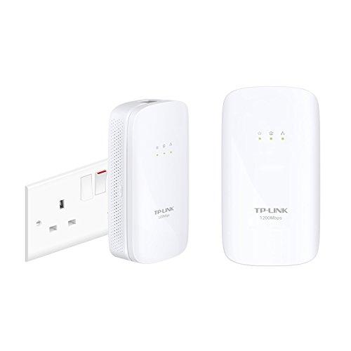 TP-Link TL-PA4020PKIT–Adattatore di Rete per linea elettrica, AV 500, 4porte, senza configurazione AV1200