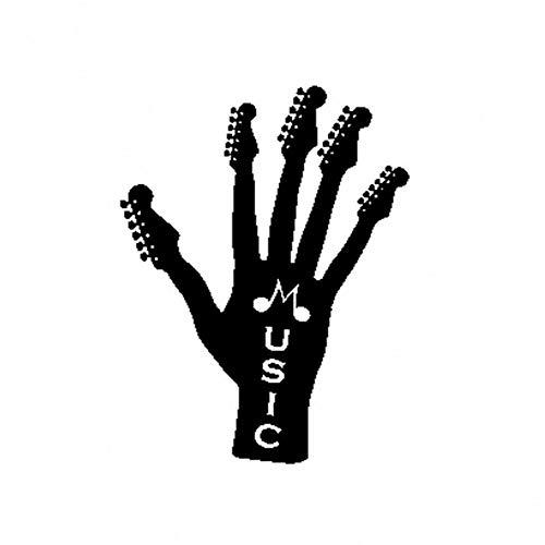 CTMNB autosticker 13,5 cm * 17,8 cm rockmuziek gitaar greep vinyl interessant autosticker decals zwart zilver motorfiets