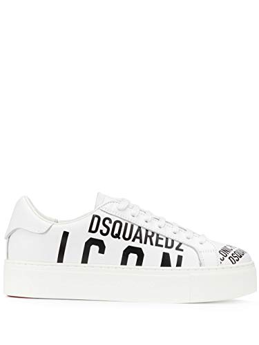 DSQUARED2 Luxury Fashion Damen SNW000801502648M072 Weiss Leder Sneakers | Frühling Sommer 20