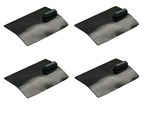 kit 4 elettrodi silicone placca gomma 60 x 85mm lunga durata ionoforesi tens elettrostimolazione spinotto...