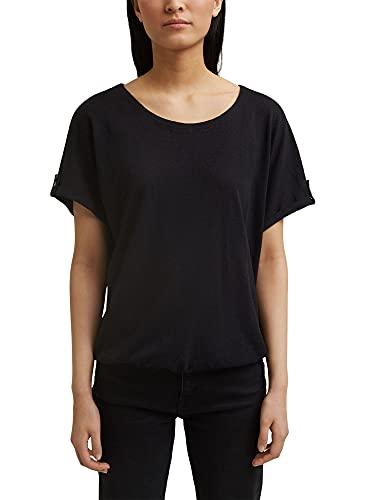 Esprit 991EE1K320 T-Shirt, 001/Noir, S Femme