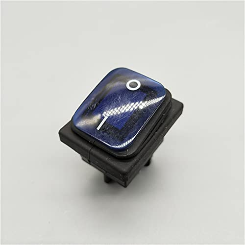 DLRSET Boton Interruptor Rocker, PC 1 KCD4 20A / 250V 4 Alfiler DPST IP67 Interruptor de rockero Impermeable Sellado con LED 12V 24V 110V 220V 3 0x22 (Color : Blue, Size : 4 Pin)