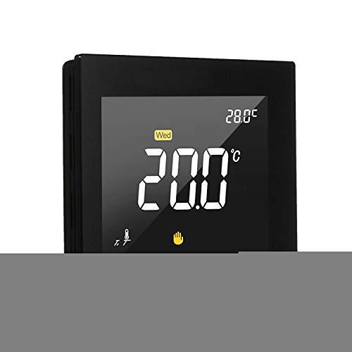 Adaskala WIFI Termostato inteligente Controlador programable de temperatura del suelo radiador de agua Pantalla táctil Pantalla a color con aplicación Control remoto