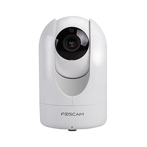 FOSCAM R2 1080P Full HD WiFi - Cámara IP de Seguridad, Lente 2Mpx con Pan / Tilt / ZOOM, Incluye P2P, Audio Bidireccional, Visión Nocturna, y Control Remoto desde App para IOS y Android, Blanca