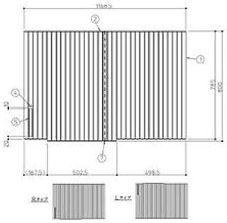 [EKK81121WR1]TOTO 風呂フタ 12用シャッター式 風呂フタR機能なし(旧型番:EKK81121WR)