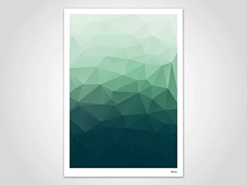 Flow 1 — Poster, Art Print, Poster Skandinavisch, Kunst, Kunstdruck, modern, Illustration, abstrakt, Geometrie, Geschenk, Lowpoly, Design