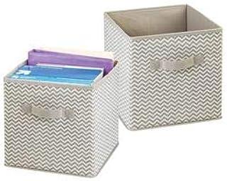 mDesign boîte de rangement pour le bureau, atelier, studio – panier de rangement pour ranger fichiers, papier d'imprimant...