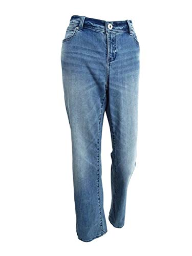 INC Womens Curvy Fit Mid-Rise Bootcut Jeans Blue 8