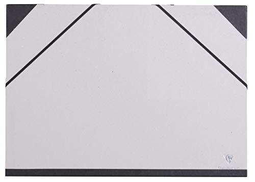 Clairefontaine 44614C - Un carton à dessin fermeture élastiques 32x45 cm, Gris