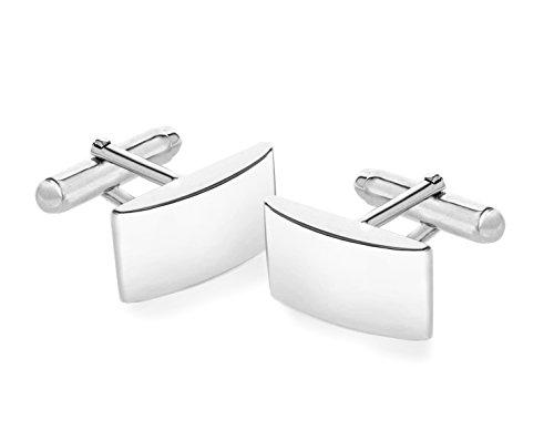 Tuscany Silver Manschettenknöpfe Sterling Silber Schlicht Gebogen
