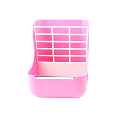 Balacoo 2 in 1 Guinea Pig Food Feeder Indoor Hay and Dry Food Feeding Bowls for Rabbit Chinchilla Small Animals (Pink) from Balacoo