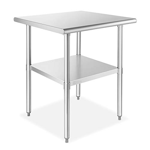GRIDMANN NSF Stainless Steel 24 in. x 24 in. Commercial Kitchen Prep & Work Table