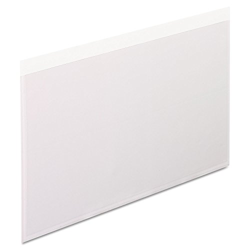 Pendaflex 99377 Self-Adhesive Pockets, 5 x 8, Clear Front/White Backing, 100/Box